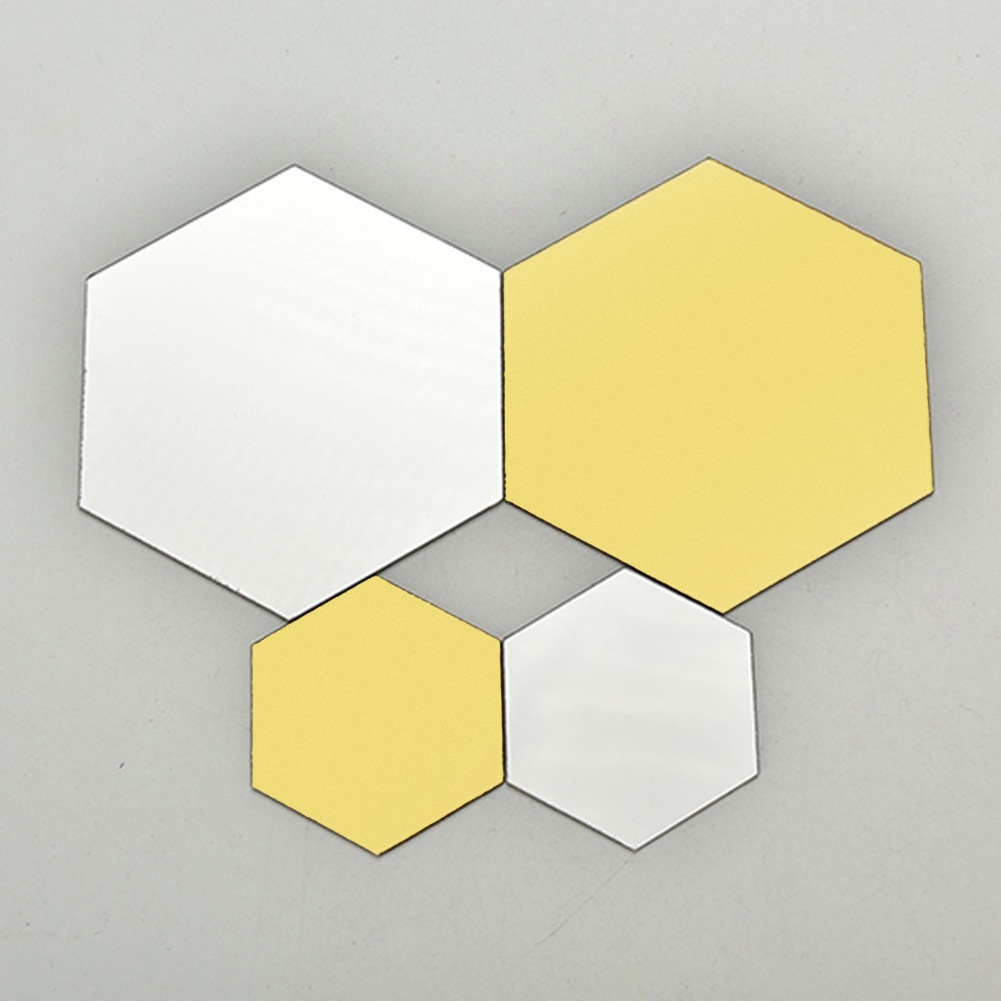 12pcs mirror hexagon removable acrylic wall stickers art Home decor sales